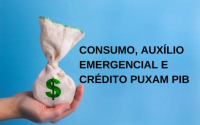 Consumo, auxílio emergencial e crédito puxam PIB