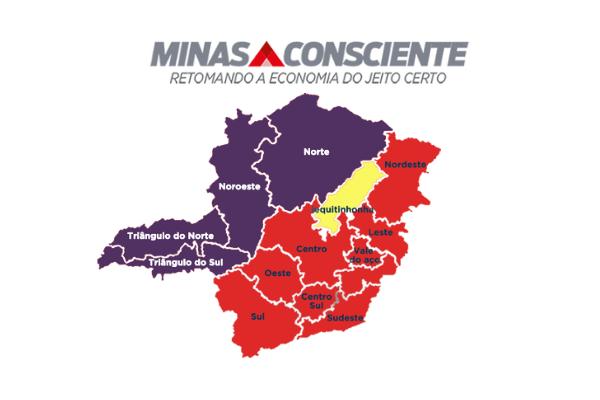 Com novo aumento nos casos de Covid, governo coloca mais municípios nas ondas roxa e vermelha do Minas Consciente