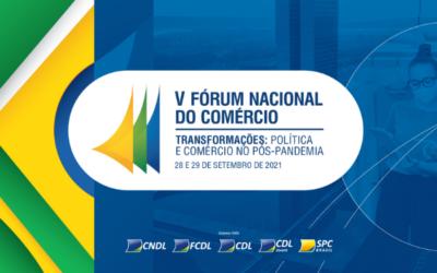 V Fórum Nacional do Comércio debate transformações e desafios do varejo pós-pandemia